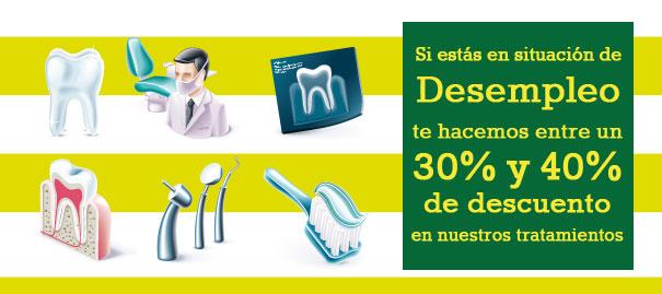 Descuentos 30%-40% Tratamientos dentales