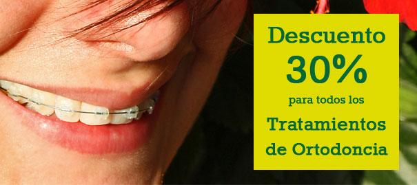 Descuentos 30% Tratamientos Ortodoncia